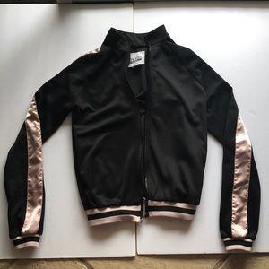 black and pink stripe jacket
